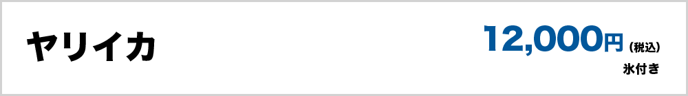 ヤリイカ(氷付き)12,000円(税込)