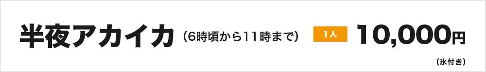 半夜アカイカ(6時頃から11時まで)1人10.000円