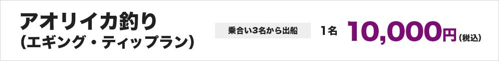 アオリイカ釣り (エギング、ティップラン) ※乗合い3名から出船 1名10,000円~
